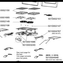 Pieds plastique (gauche et droit) 5010004767
