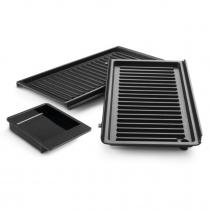 2 plaques grill ondulées
