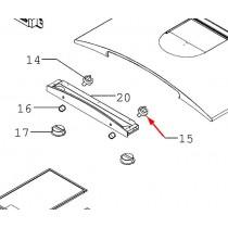 Interrupteur rotatif lumière (repère 15)