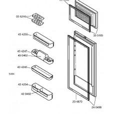 Porte de réfrigérateur (repère 24 0498)