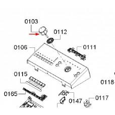 Bouton de programmateur (repère 0103)