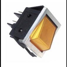 Interrupteur 4 cosses à voyant orange 30mm X 22mm
