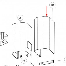 Haut de conduit inox 415mm (repère 31)