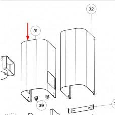 Bas de conduit inox 365mm (repère 31)
