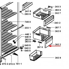 Façade de tiroir (repère 2422)