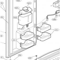 1 x petit balconnet gauche (repère 213)