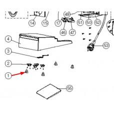 1 x Pied caoutchouc de trancheuse PT192A