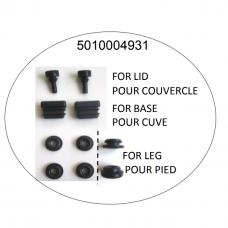 Patins couvercle(x2) + bouchons cuve(x2) + rondelles pied(x4)