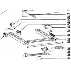 Cadre à roulettes (repères 29-41)