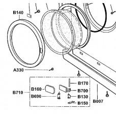 Kit poignée de porte (repère B710)