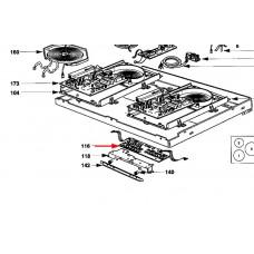 Carte clavier pour table induction (repère 116)