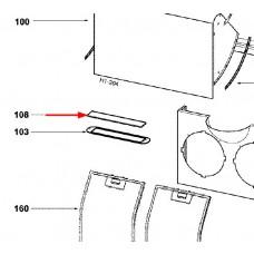 Plaque cache lampe (repère 108)
