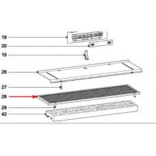 Filtre métallique 529mmX160mm (repères 28+29)