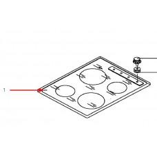 Plaque vitrocéramique (repère 1)