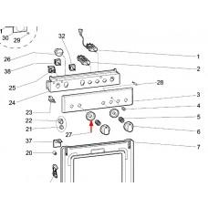 Disque de bouton (repère 27)