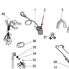 Cable alim + filtre antiparasites (repère 2)