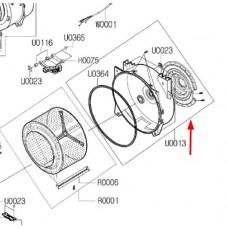 Cuve arrière avec roulements (repère U0013)