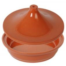 Plat + couvercle pour wok tajine