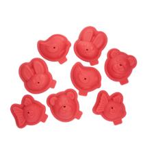 Coffret 8 moules en silicone animaux