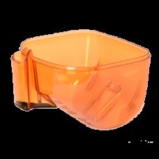 Bac à poussière orange