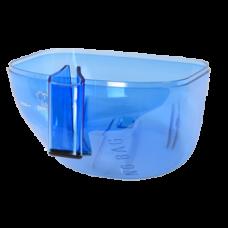 Bac à poussière bleu
