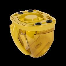 Bac à poussière jaune