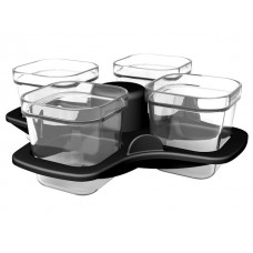 4 mini moules en verre pour friteuse Actifry