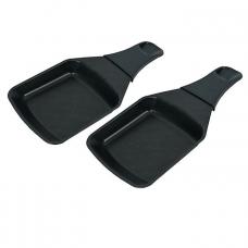 2 coupelles à raclette carrées avec révêtement anti-adhésif
