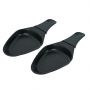 2 coupelles à raclette ovales avec révêtement anti-adhésif